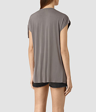 Womens Aria Drape Top (ANTHRACITE GREY) - product_image_alt_text_4
