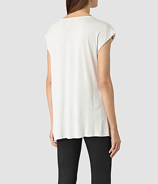 Womens Aria Drape Top (OYSTER WHITE) - product_image_alt_text_4