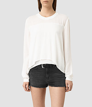 Womens Camber Top (Chalk White)