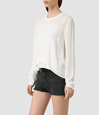 Women's Camber Top (Chalk White) - product_image_alt_text_2