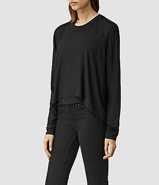 Womens Camber Top (Black) - product_image_alt_text_2