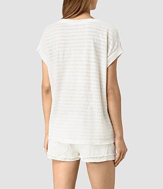 Mujer Pina Stripe Tee (CHLK WHT/CHLK WHT) - product_image_alt_text_4