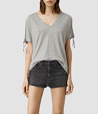 Mujer Camiseta Kay (Mist Grey Marl) - product_image_alt_text_1