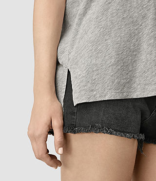 Mujer Camiseta Kay (Mist Grey Marl) - product_image_alt_text_2