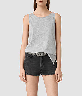 Womens Lee Tank (Mist Grey Marl)