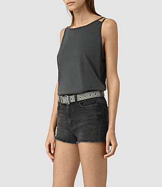 Mujer Lee Tank (PIRATE BLACK)