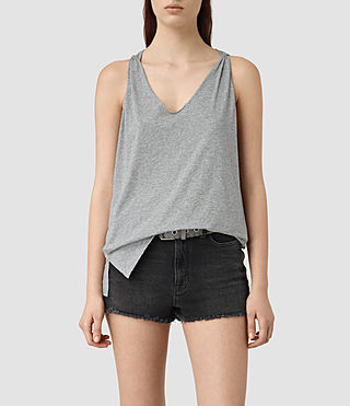 Mujer Lena Tank (Mist Grey Marl) - product_image_alt_text_1
