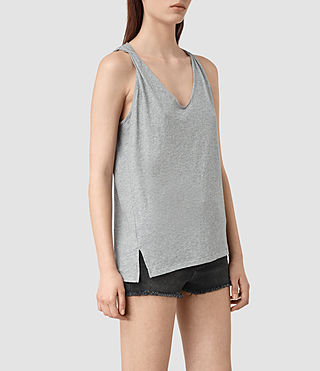 Mujer Lena Tank (Mist Grey Marl) - product_image_alt_text_3