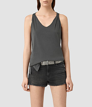 Women's Lena Tank (PIRATE BLACK)