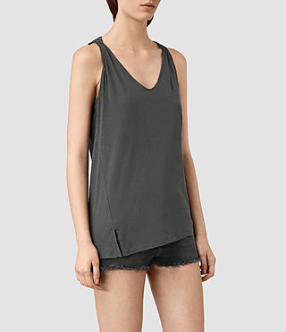 Womens Lena Tank (PIRATE BLACK) - product_image_alt_text_3