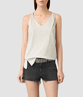 Womens Lena Tank (GREIGE WHITE) - product_image_alt_text_1