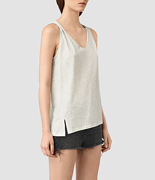 Womens Lena Tank (GREIGE WHITE) - product_image_alt_text_3