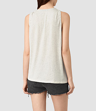 Womens Lena Tank (GREIGE WHITE) - product_image_alt_text_4