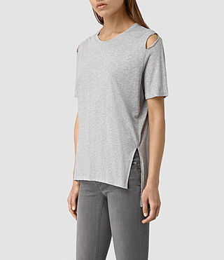 Mujer Camiseta Mewa (Mist Grey Marl) - product_image_alt_text_3