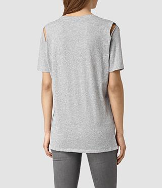 Mujer Camiseta Mewa (Mist Grey Marl) - product_image_alt_text_4