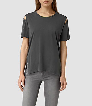 Women's Mewa Tee (PIRATE BLACK) -