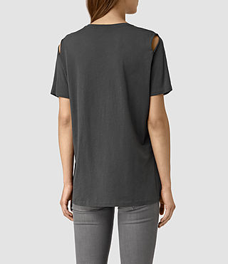 Women's Mewa Tee (PIRATE BLACK) - product_image_alt_text_4
