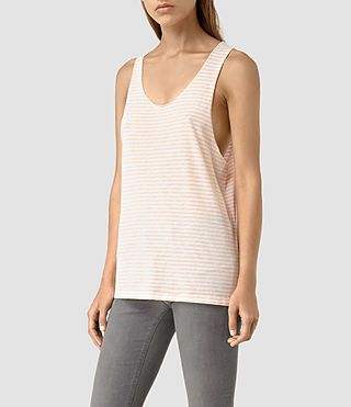 Womens Noah Tank (CHK WHT/CORAL PINK) - product_image_alt_text_3