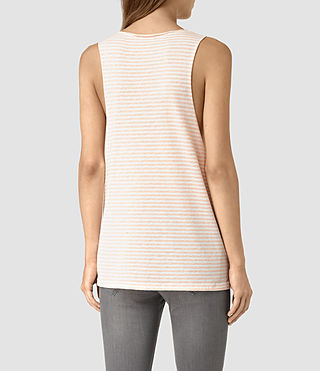 Mujer Noah Tank (CHK WHT/CORAL PINK) - product_image_alt_text_4
