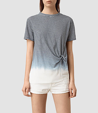 Women's Ashley Grade Tee (INK BLUE/C.WHITE)