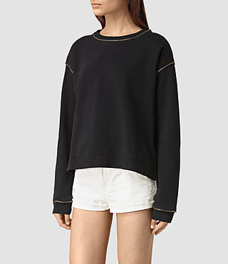 Mujer Perry Sweatshirt (Black) - product_image_alt_text_1