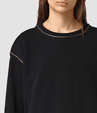Women's Perry Sweatshirt (Black) - product_image_alt_text_2