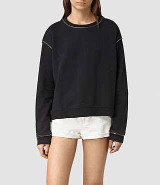 Women's Perry Sweatshirt (Black) - product_image_alt_text_3