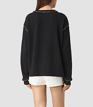 Women's Perry Sweatshirt (Black) - product_image_alt_text_4