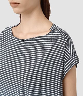 Femmes Pina Grade Tee (INK BLUE/C.WHITE) - product_image_alt_text_2