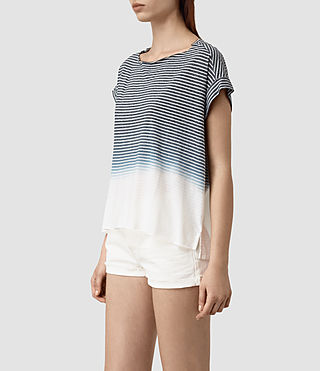 Femmes Pina Grade Tee (INK BLUE/C.WHITE) - product_image_alt_text_3