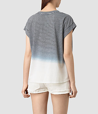 Femmes Pina Grade Tee (INK BLUE/C.WHITE) - product_image_alt_text_4