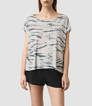 Women's Pina Tye Tee (STONE GREY/BLUE)