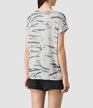Womens Pina Tye Tee (STONE GREY/BLUE) - product_image_alt_text_4