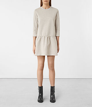 Damen Niki Sweat Dress (VANILLA WHITE)