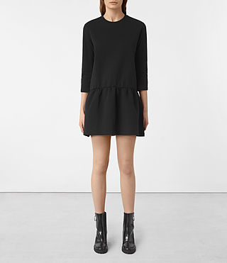 Womens Niki Sweat Dress (Black) - product_image_alt_text_1