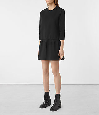 Womens Niki Sweat Dress (Black) - product_image_alt_text_2