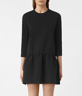 Womens Niki Sweat Dress (Black) - product_image_alt_text_3