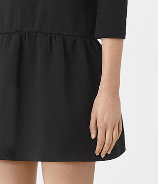Womens Niki Sweat Dress (Black) - product_image_alt_text_4