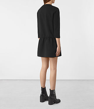 Womens Niki Sweat Dress (Black) - product_image_alt_text_5