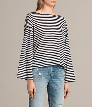 Mujer Camiseta Nova Lin (CHALK WHITE/NAVY) - product_image_alt_text_2