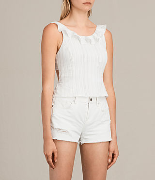 Femmes Top Stina (Chalk White) - Image 5