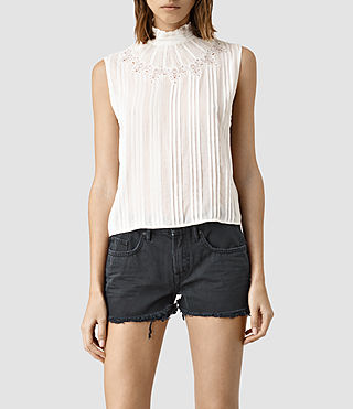 Mujer Lolita Top (Chalk White) - product_image_alt_text_1