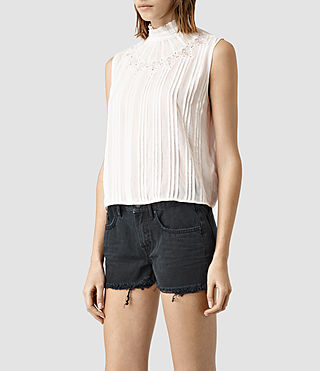 Mujer Lolita Top (Chalk White) - product_image_alt_text_2