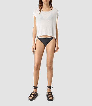 Womens Cassia Bikini Bottom (BLACK/CHALK)