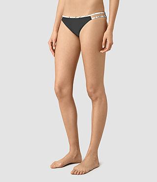 Womens Cassia Bikini Bottom (BLACK/CHALK) - product_image_alt_text_3