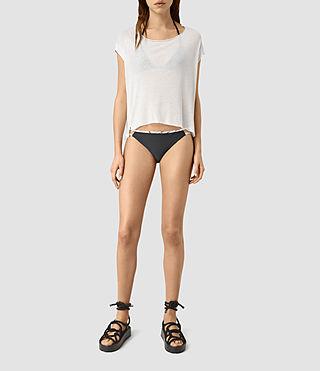 Damen Cassia Bikini Bottom (Black/ Chalk)