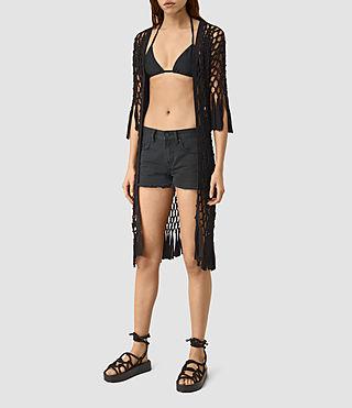 Damen Cassia Bikini Top (Black)