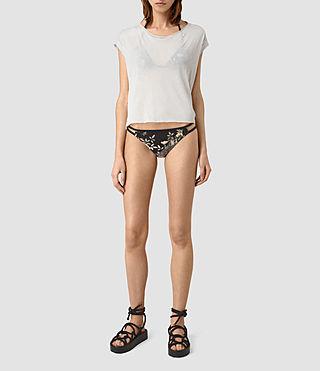 Womens Cassia Heron Bikini Bottom (SLATE BLUE)