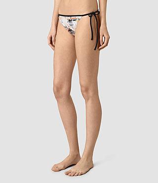 Mujer Ty Dash Bikini Bottom (Chalk White) - product_image_alt_text_3
