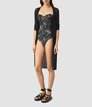 Mujer Susu Willow Swimsuit (BLACK/CHALK)
